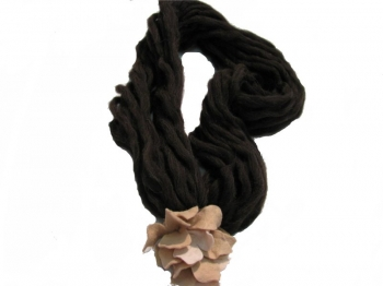Woman Accessory Brown Scarf