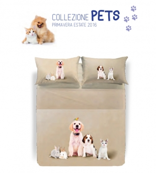 COMPLETO LENZUOLA FAMILY PETS