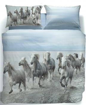 HORSE BEDSPREAD CALEFFI