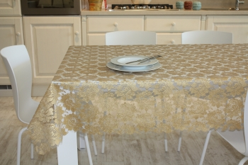 GOLD LACE TABLECLOTH