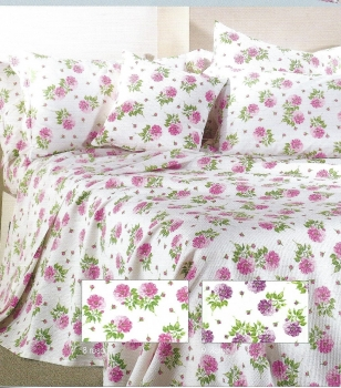 FLOWER BEDSPREAD COTTON