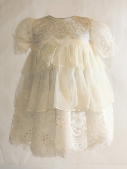 Safer Baby Lace White Dress