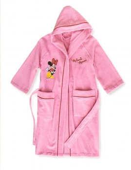 Walt Disney Minnie Girl Sponge Bathrobe