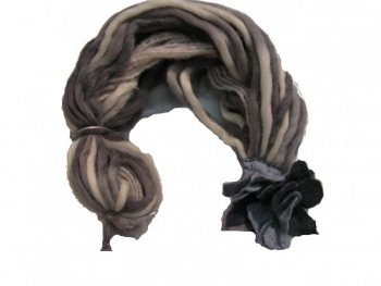 CAC Brown-Cream Scarf