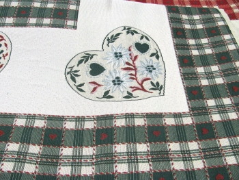 GREEN HEARTS TABLECLOTH