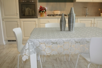 TABLECLOTH LACE SILVER
